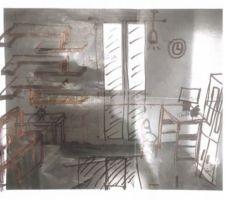 Mezzanine projet déco sur papier