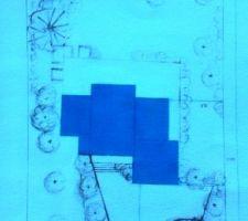 Plan projet de jardin.