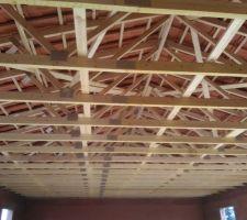 La toiture est faite, ça a été très rapide la couverture une journée et la toiture en suivant !