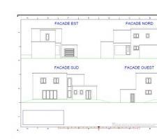 Plan de façade car pas encore fait de vue 3d