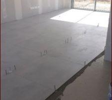 Pose carrelage effet beton ciré