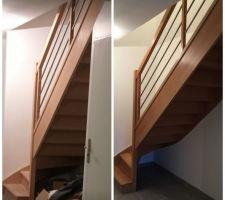 Ponçage et vitrification escalier terminée