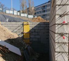 Mur de la terrasse Ouest terminé