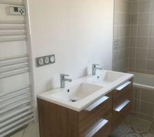 Salle de bain pose du meuble
