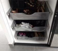 Paniers coulissants pour les chaussures