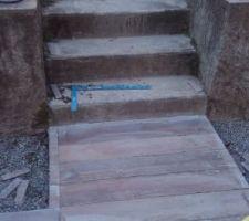 Escalier jardin à carreler