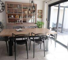 """Nouvelle table de salle à manger style """"indus"""""""