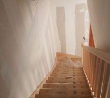 Le fameux escalier est arrivé