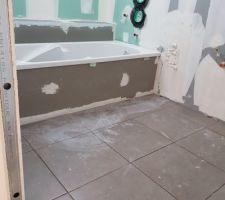 Carrelage sol salle de bain enfants.