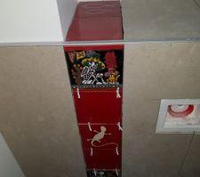 WC du RDC. Vue du dessus du tablier.