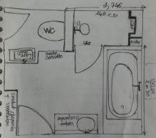 Plan Sdb étage