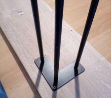 Pieds métal noir pour la console