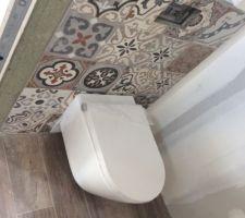 Installation des wc en cours