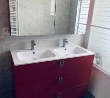 La deuzième salle de bain est opérationnelle