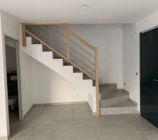 Rampe d'escalier garde corps