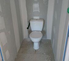 WC installés (ici à l'étage)