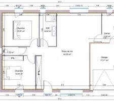 Plan que nous avons retenu, maison PANAY 83 de chez PRIMEA