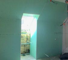 Isolation et placo étage