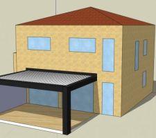 Projet de pergolas bioclimatique 6x4, inclus store zip sur côté ouest et éclairage led intégré.