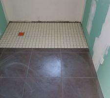 Salle de bain du bas + douche italienne.