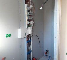 Tableau électrique dans le cellier