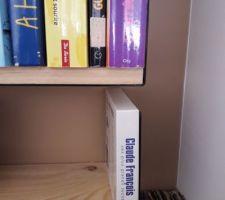 Ce genre d'étagère est bien car les livres ça pèsent lourd