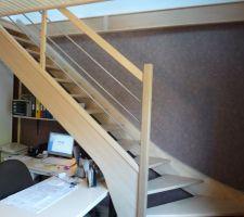 Modèle de l'escalier choisi, le même que notre maison actuelle
