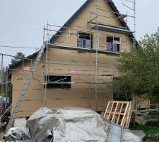 Isolation de la façade par l'extérieur en fibres de bois