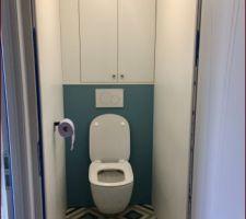 WC de l étage avec placard sur mesure