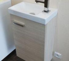 Lave main WC RDC bois clair