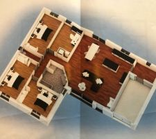 Plan de notre maison en 3D