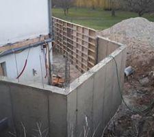 Mur de l'extension
