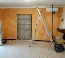Ouverture du placo pour futur ouverture vers ancien Garage/Cuisine