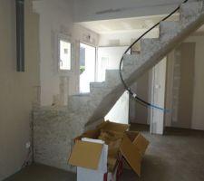 L'escalier est très moche et notre expert a remis en cause sa solidité.