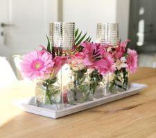 Comment recycler un bouquet de fleurs reçu pour faire un centre de table