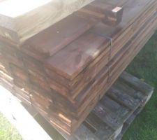 Livraison du bois de la terrasse