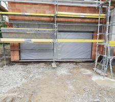 Porte  garage 5m RAL 9006
