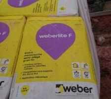 Enduit weber rouge carmine WB343