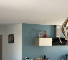 Installation nouvelles suspensions salon
