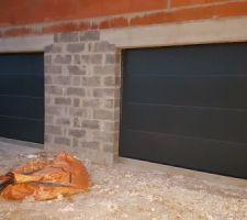 Pose des portes de garage