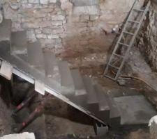 Escalier décoffré...