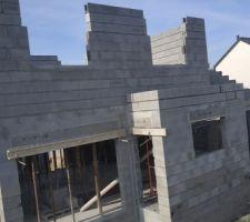 Montage des murs de l'étage