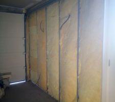 Garage en cours d isolation