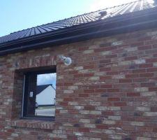 Sortie ventouse sur la façade de la maison...
