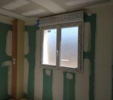 Les vitrages de la salle de bains ont été remplacés par les versions opaques