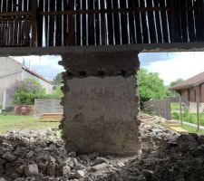 Démolition de l'intérieur & création des ouvertures coté jardin
