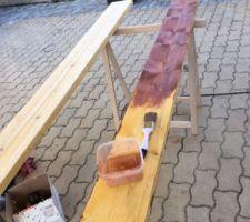 Traitement du bois avec de l'huile