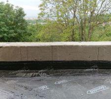 Feuille bitumeuse de la marque Danosa pour étanchéité du balcon