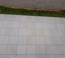 Terrasse sur plots terminée. Travaux entrepris par TTPM (terrassement travaux publics mosellans ) à Metz