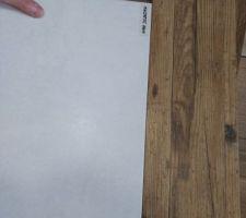 Carrelage sdb sol magnetic blanc et mur douche/toilette bois